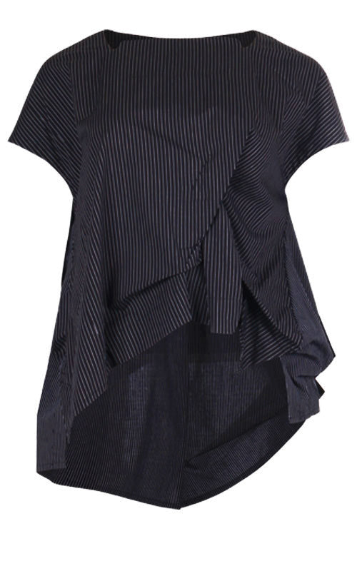 Moyuru Black Striped Top 191627 front
