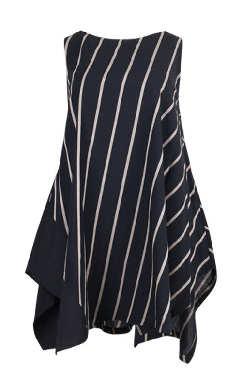 Moyuru Striped Sleeveless Tunic 191630