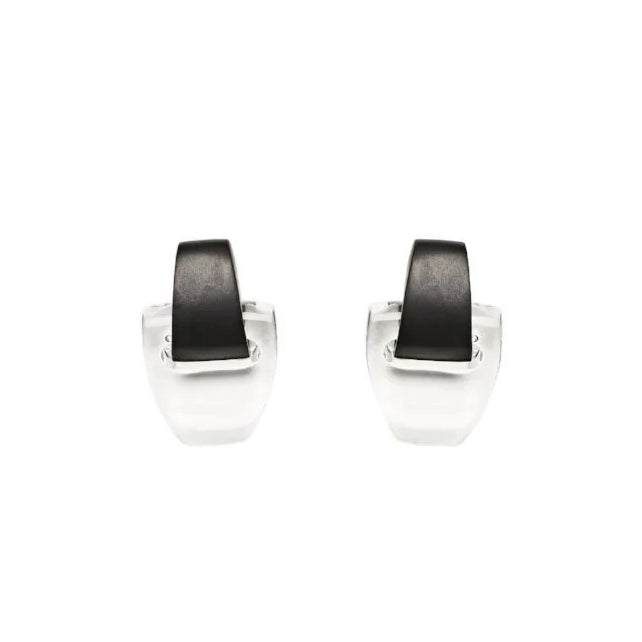 monies Campinas Earclips Black + Clear
