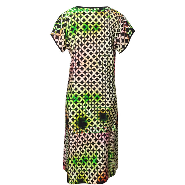 Tiffany Treloar Silk Print Dress Buzz back