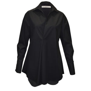Tiffany Treloar Cotton Shirt Pierre Black