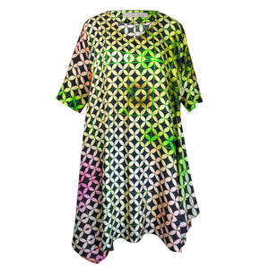 Tiffany Treloar Print Silk Tunic Dress Buzz Front