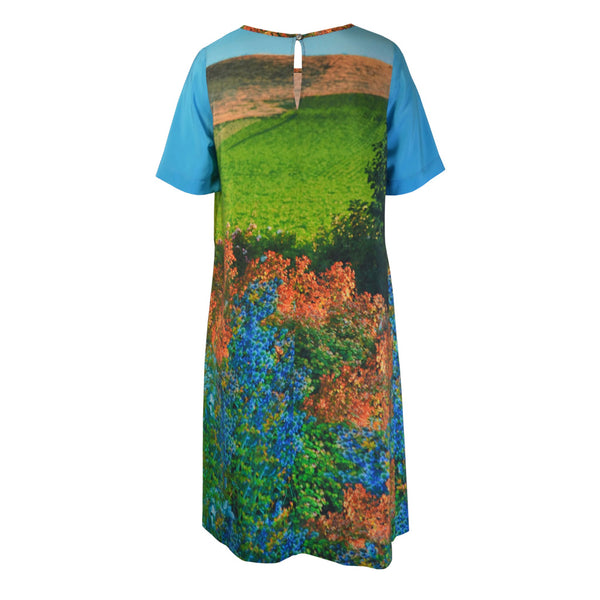 Tiffany Treloar Print Silk Shift Dress Mrs Gooch Back
