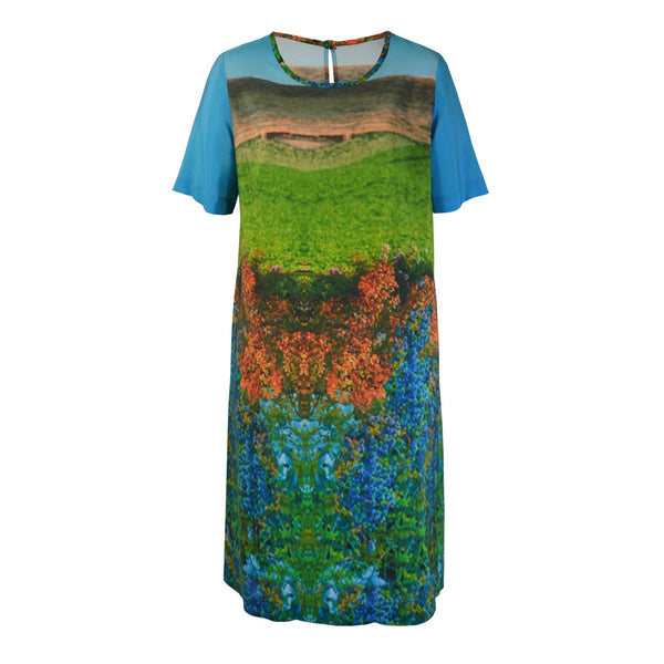 Tiffany Treloar Print Silk Shift Dress Mrs Gooch Front