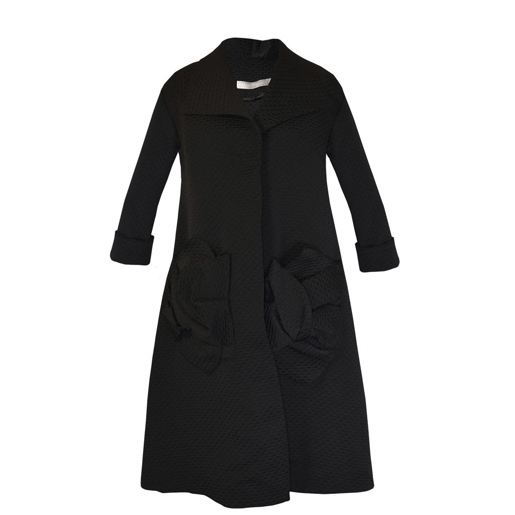 Tiffany Treloar Portmanteau Coat Black Front