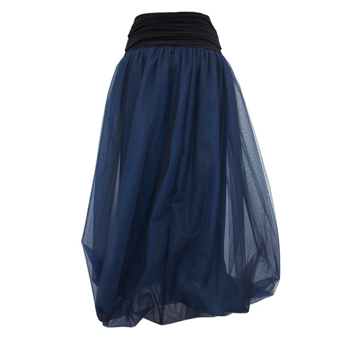 Tiffany Treloar, Midnight Blue Tulle Twist Bubble Skirt - Tiffany Treloar