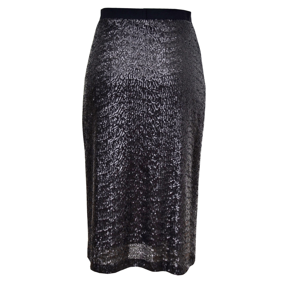 Tiffany Treloar Sequinned Skirt Black Noir Back
