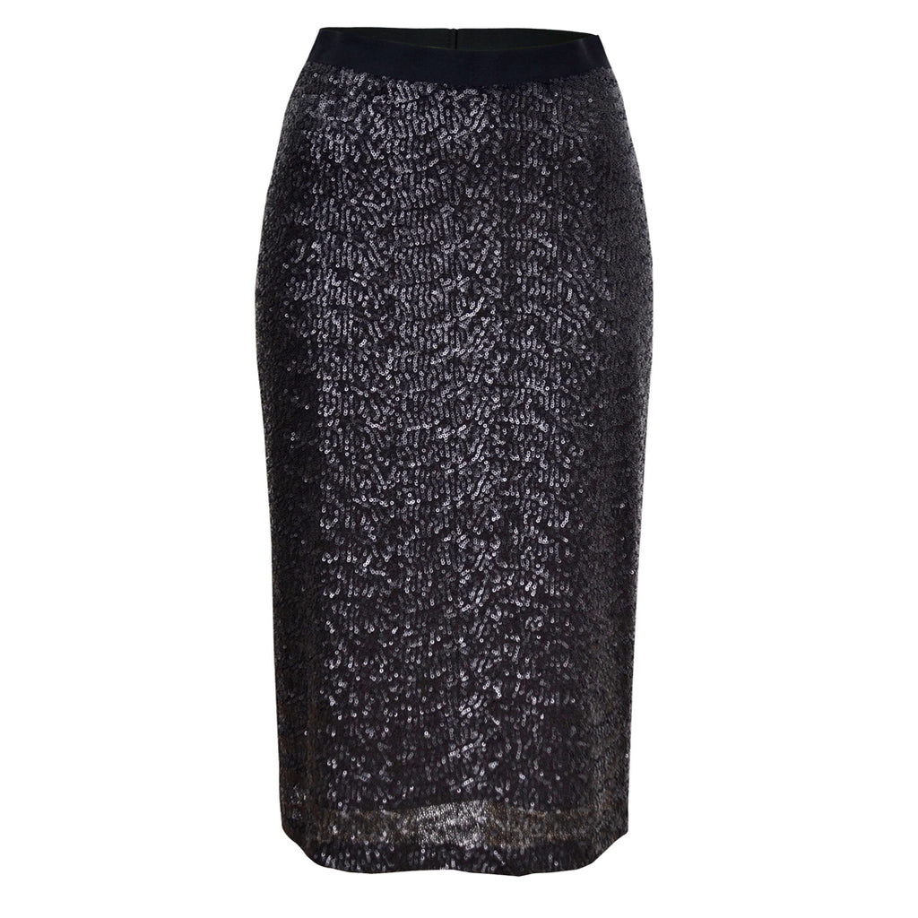Tiffany Treloar Sequinned Skirt Black Noir Front