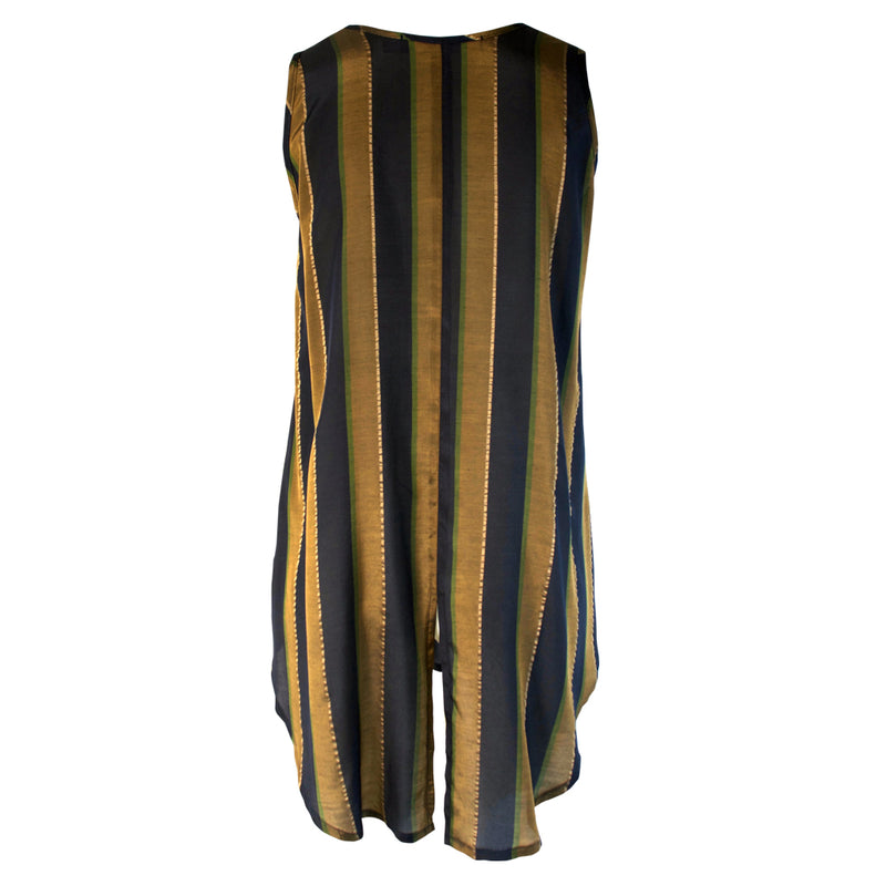 Tiffany Treloar Striped Tank Brass Navy Back