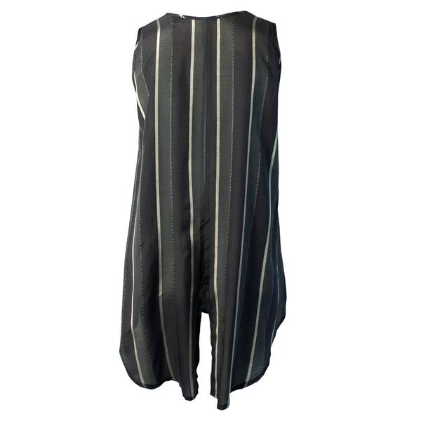 Tiffany Treloar Striped Tank Silver Noir Back