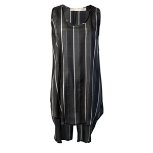 Tiffany Treloar Striped Tank Silver Noir Front