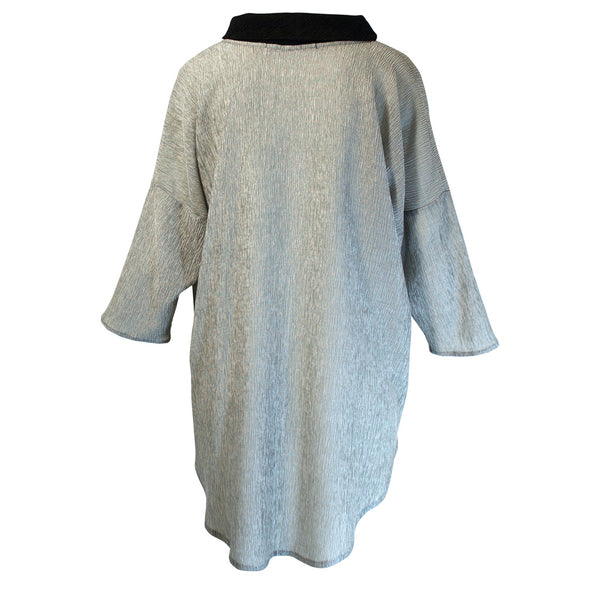 Tiffany Treloar Tama Cowl Top Silver/Black Back