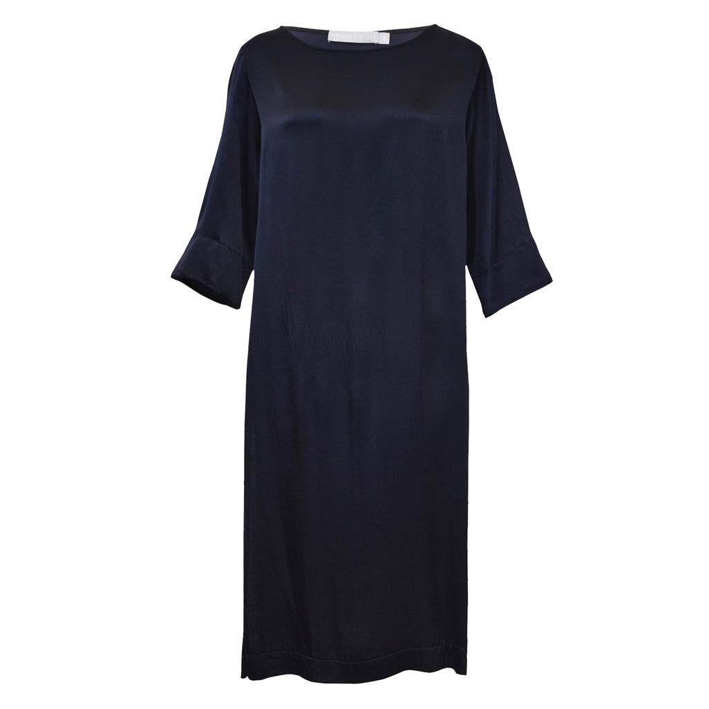 Tiffany Treloar Viscose Paris Tunic Navy Front