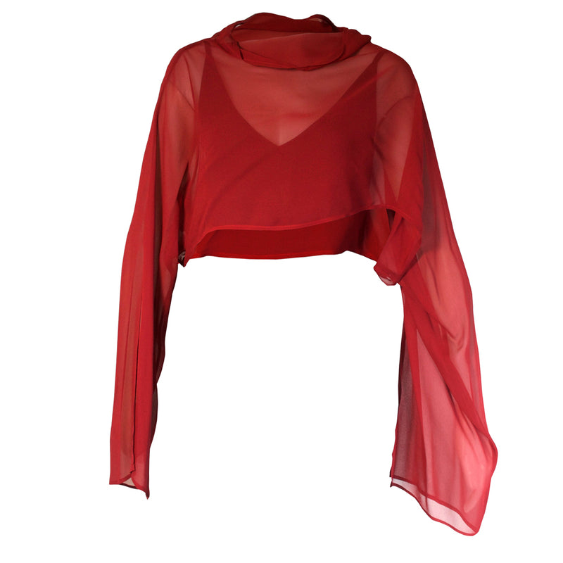 Tiffany Treloar, Majida Georgette Crop Top Redwood - Tiffany Treloar