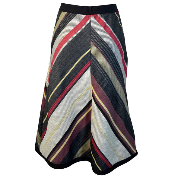 Tiffany Treloar Chevron Skirt Black/Red Back