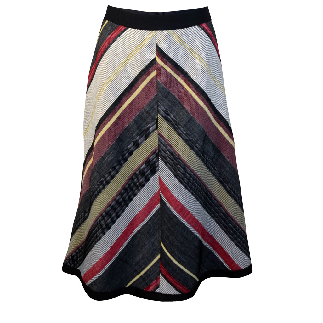 Tiffany Treloar Chevron Skirt Black/Red Front