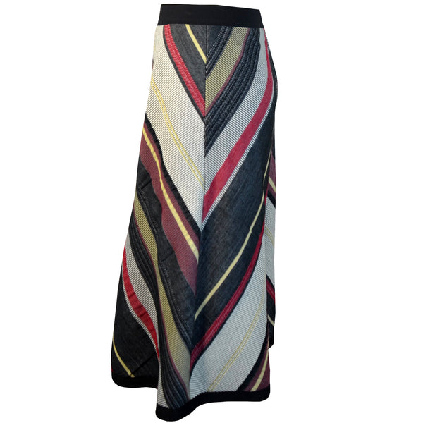 Tiffany Treloar Chevron Skirt Black/Red Side