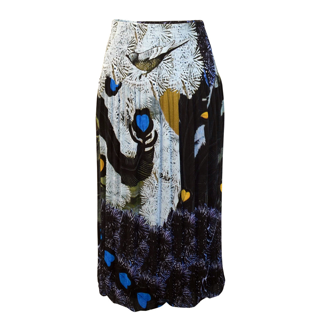 Tiffany Treloar Printed Pleat Skirt Lovebird Front
