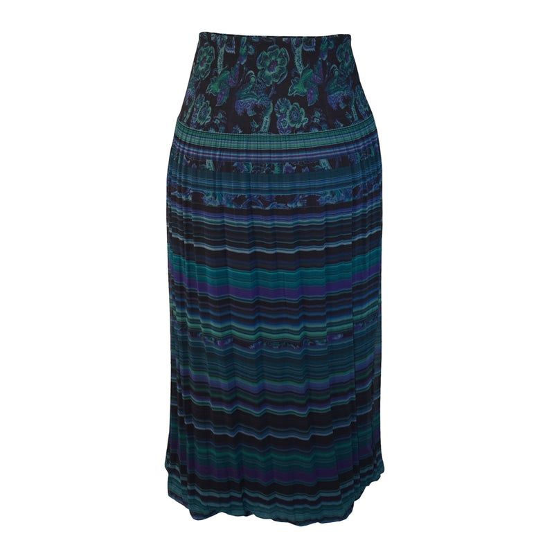 Tiffany Treloar Printed Pleat Skirt Paisley Back