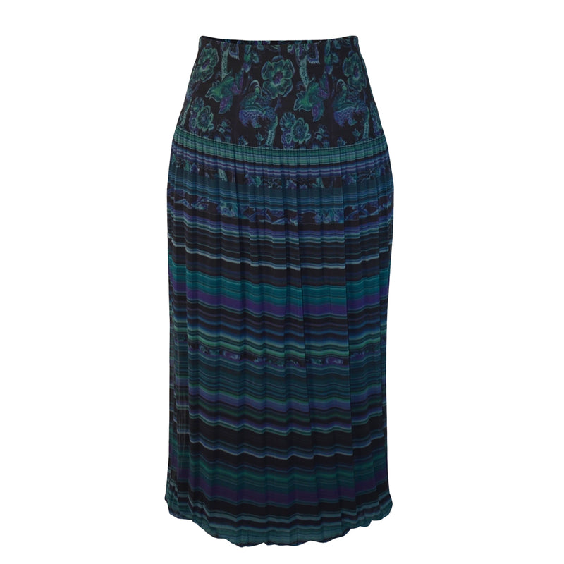 Tiffany Treloar Printed Pleat Skirt Paisley Front