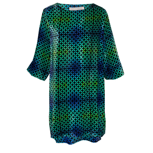 Tiffany Treloar Print Silk Velvet Tunic/Dress Arena Front