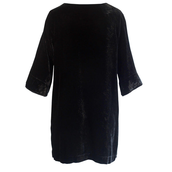 Tiffany Treloar Silk Velvet Tunic/Dress Black Back