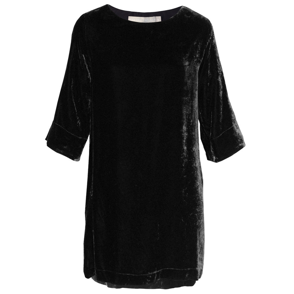 Tiffany Treloar Silk Velvet Tunic/Dress Black Front