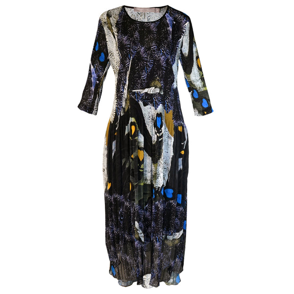 Tiffany Treloar Printed Fleur Pleat Dress Lovebirds Front