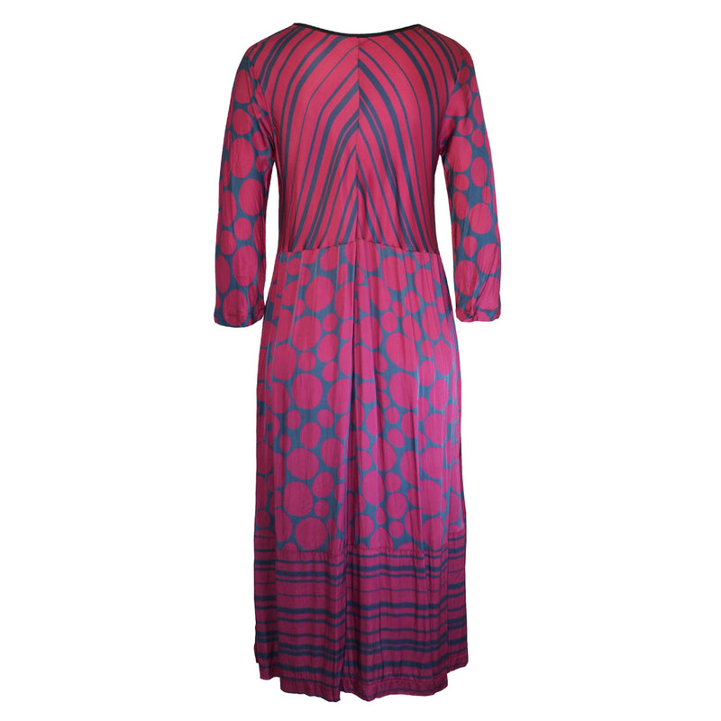 Tiffany Treloar Print Viscose Paris Dress Pebble Back