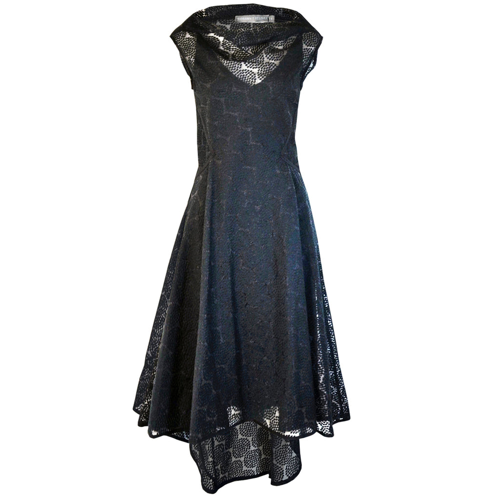 Tiffany Treloar Embroidered Circle Dress Black Front