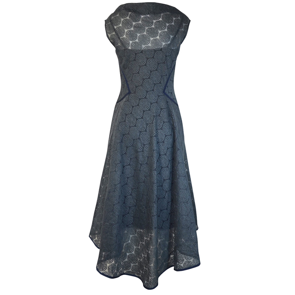 Tiffany Treloar Embroidered Circle Dress Blue Back