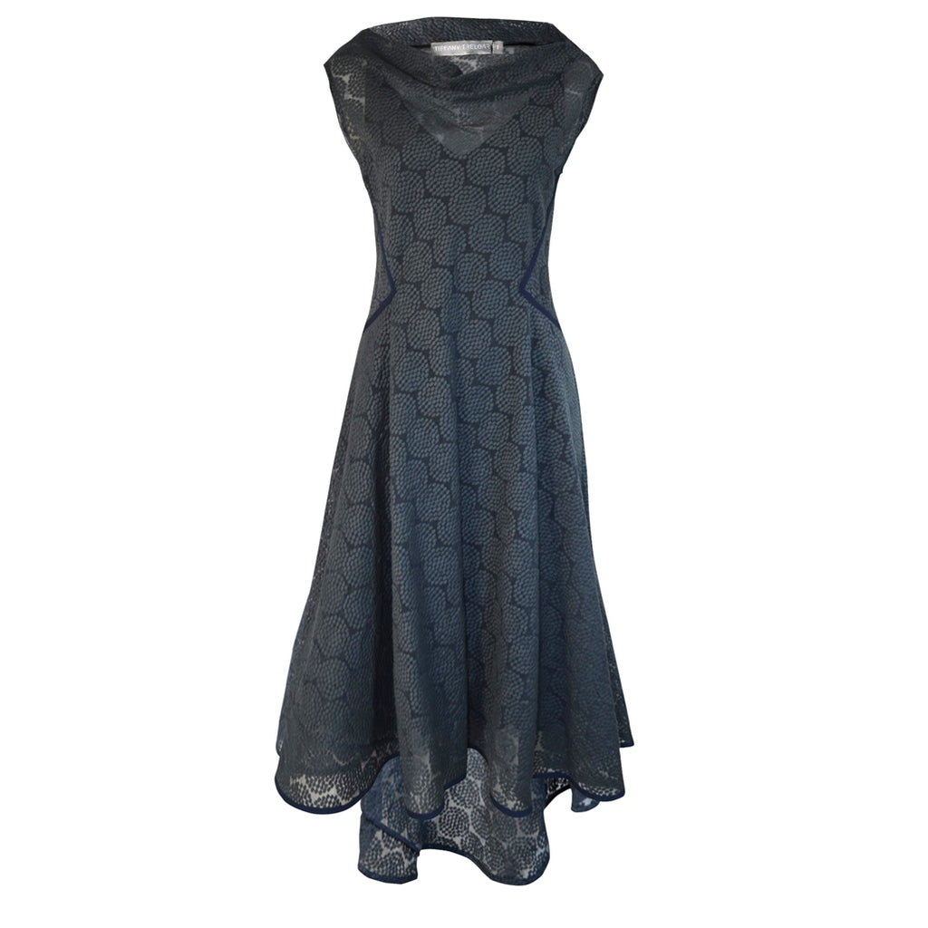 Tiffany Treloar Embroidered Circle Dress Blue Front