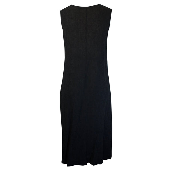Tiffany Treloar Drape Tencel Dress Black Back