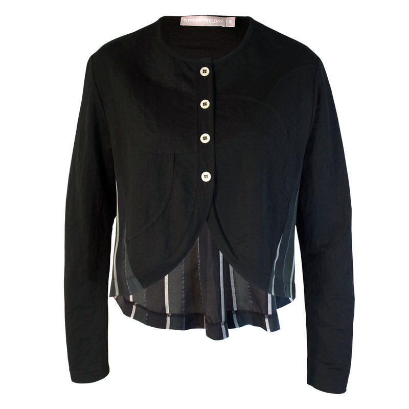 Tiffany Treloar Courbes Jacket Black Silver Front