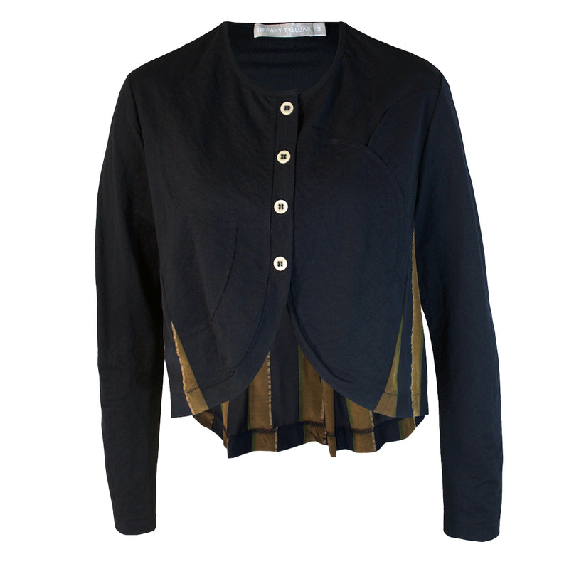 Tiffany Treloar Courbes Jacket Navy Brass Front