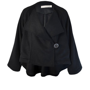 Tiffany Treloar Wool Crop Jacket Twill Front