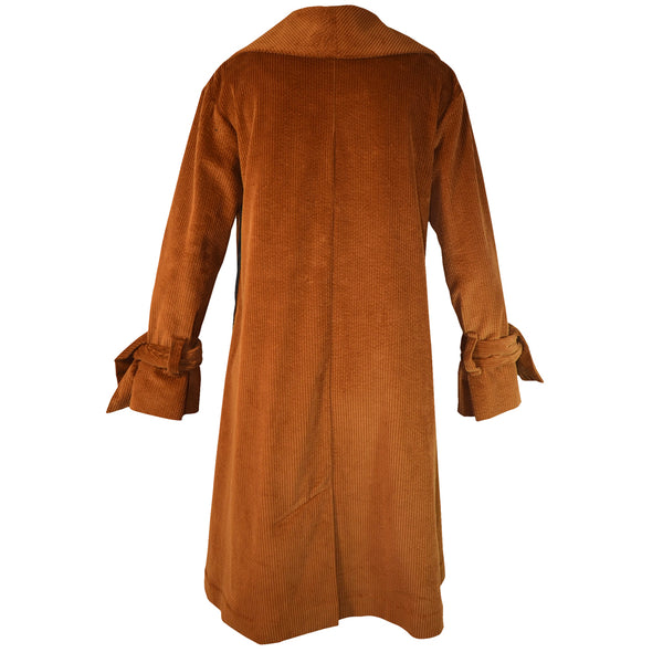 Tiffany Treloar Cotton Cord Coat Caramel Back