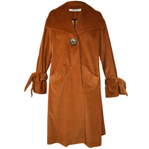 Tiffany Treloar Cotton Cord Coat Caramel Front
