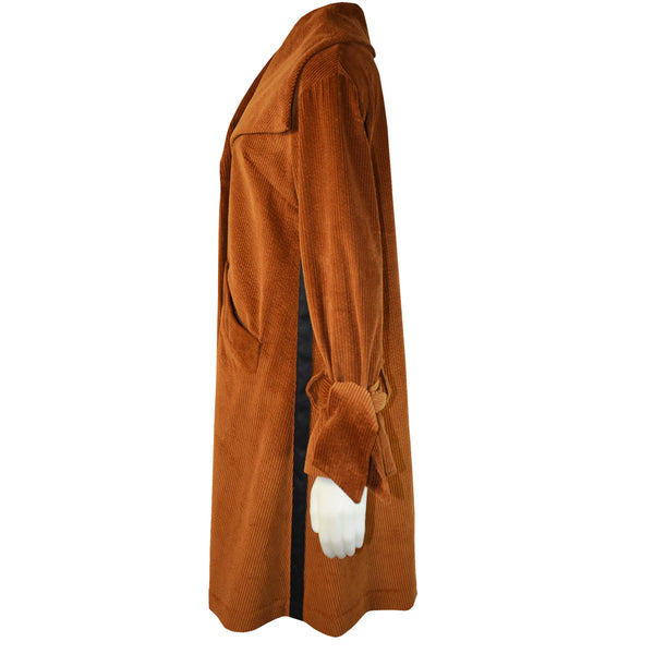 Tiffany Treloar Cotton Cord Coat Caramel Side