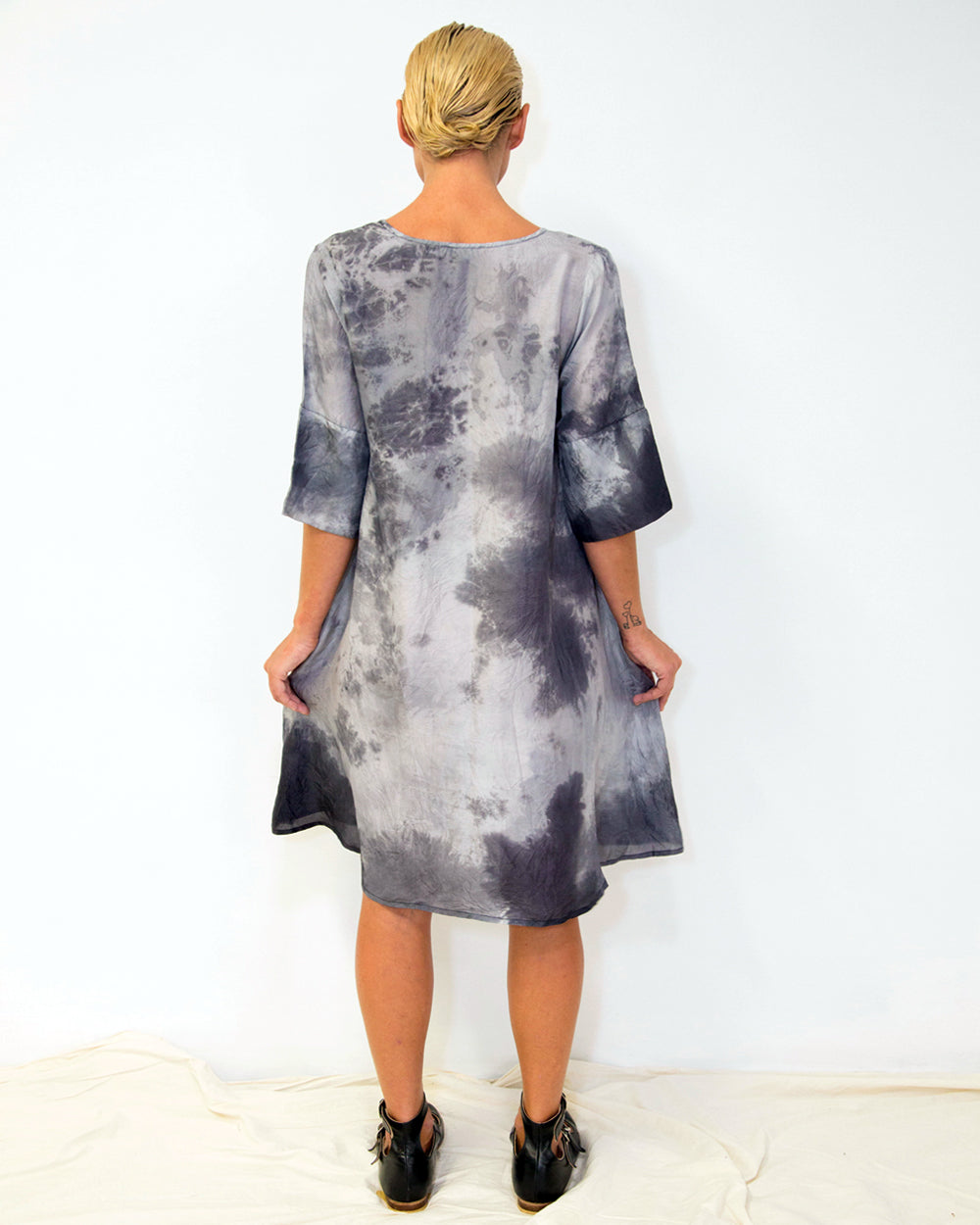 33 Poets Shibori Storm Dress Back