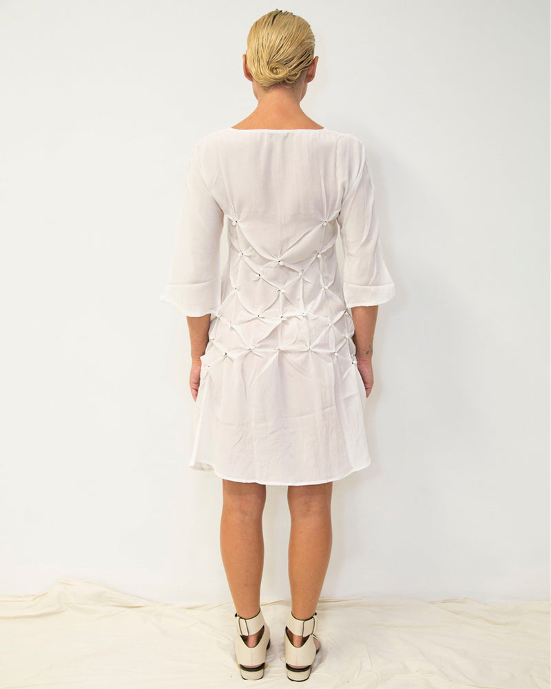 33 Poets Knot Dress Tunic White Back