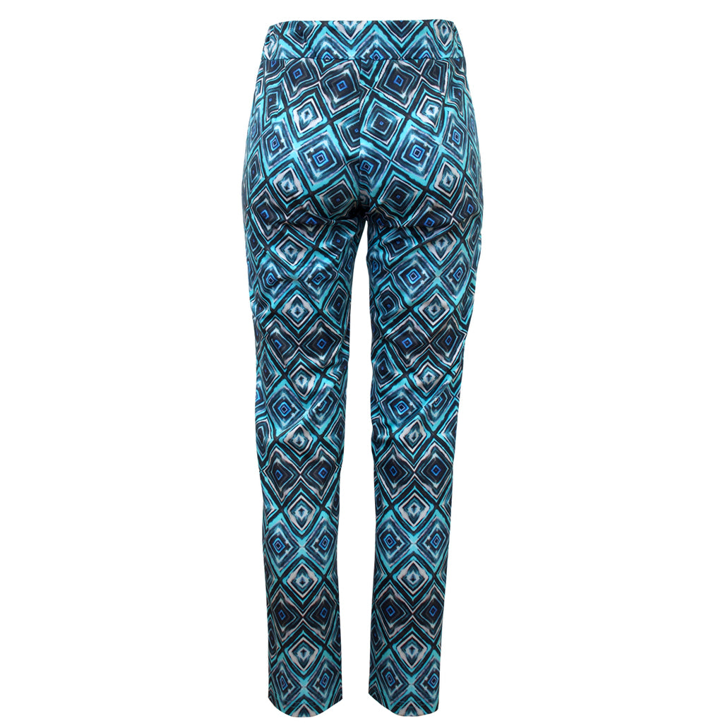 Tiffany Treloar Print Cotton Phebe Pant Diamond Blue Back