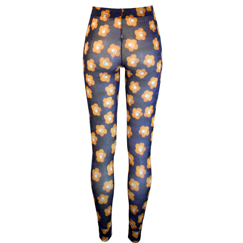 Tiffany Treloar Print Net Leggings Atelier Back