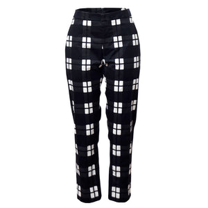 Tiffany Treloar Cotton Pant Black Check Front