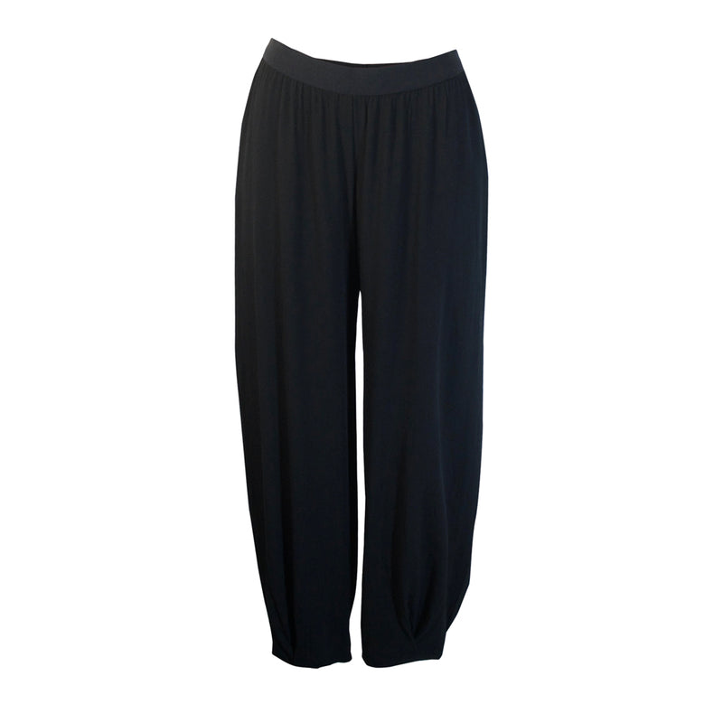 Tiffany Treloar Paris Crepe Viscose Pant Black Front