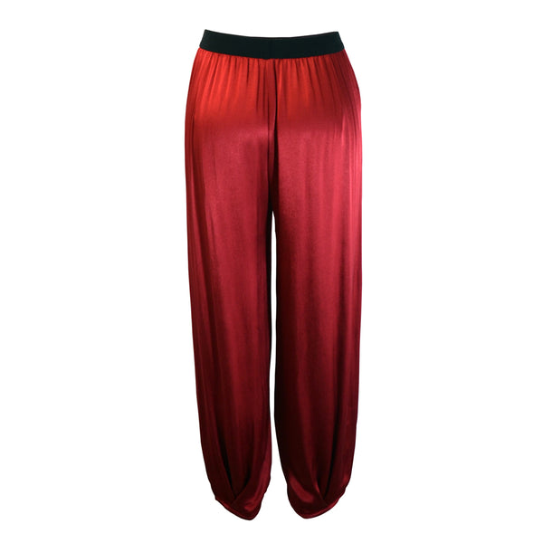 Tiffany Treloar Paris Viscose Pant Red Back