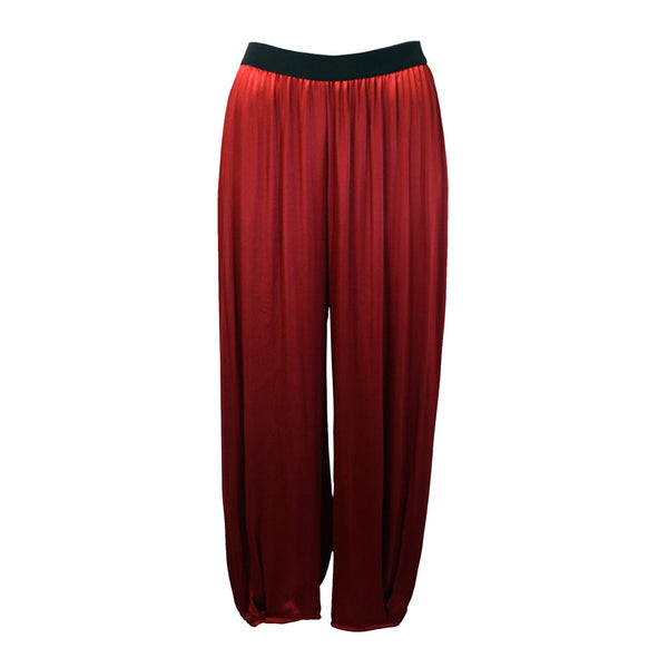 Tiffany Treloar Paris Viscose Pant Red Front