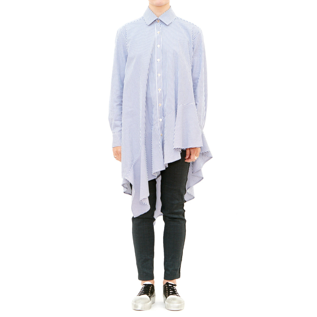 Archie blue stripe shirt
