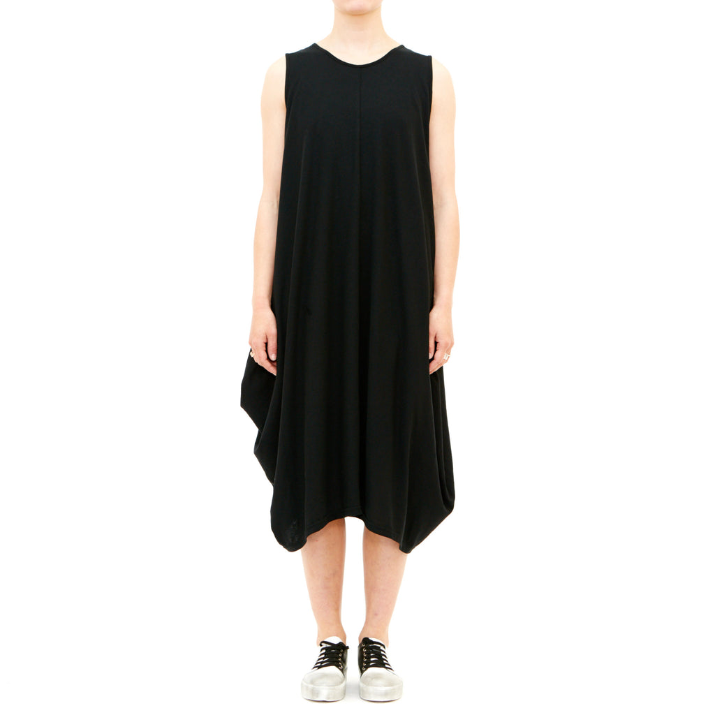 Tiffany Treloar, Woopie Black Drape Dress - Tiffany Treloar