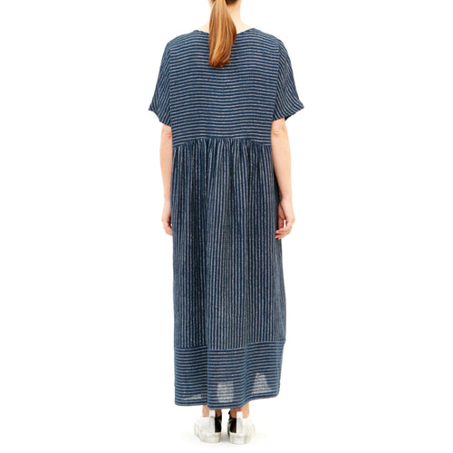 Tiffany Treloar, Half Moon Denim Lurex Linen Dress - Tiffany Treloar